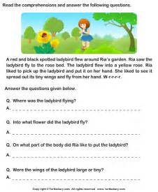 free reading comprehensions reading comprehension stories worksheet 29 turtle diary