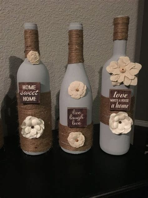 Decorative Wine Bottles Crafts by 25 Best Ideas About Decorating Wine Bottles On
