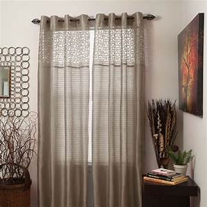Set of 2 sheer monica grommet curtain panels choice of for Grommet curtains with sheers