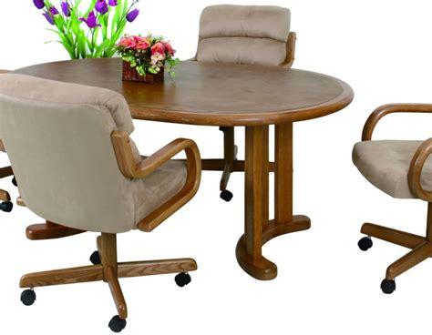 dinette sets with caster chairs douglas casual caster dinette 5 pedestal
