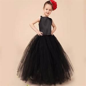 lovely princess black Flower Girl Dresses 2016 backless ...