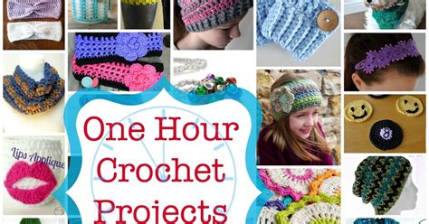 1 hour projects fiber flux tick tock 35 one hour crochet projects