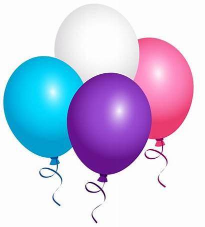 Balloons Balloon Clipart Flying Birthday Clip Arch