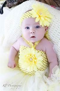 Sunny Daisy Baby Crochet Tutu Dress in White u0026 Yellow | Little Girl Style