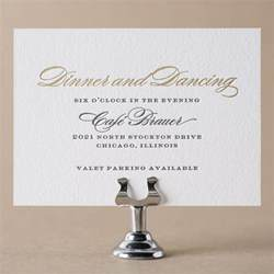 wedding reception invitation wording after ceremony reception cards by figura