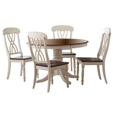 sears dining room sets homesullivan 5 antique white and cherry dining set