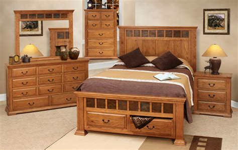 Rustic Bedroom Furniture Set, Rustic Oak Bedroom Set, Oak