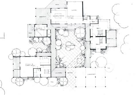 stunning house plans courtyard pools home building plans