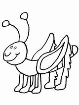Coloring Bug Pages Bugs Grasshopper Insect Printable Cartoon Lightning Insects Colouring Cliparts Clipart Sheets Toddler Spring Library Ant Butterfly Clip sketch template