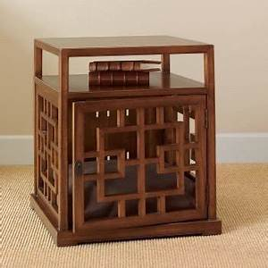 Dog crate end tables foter for How to build a dog crate end table