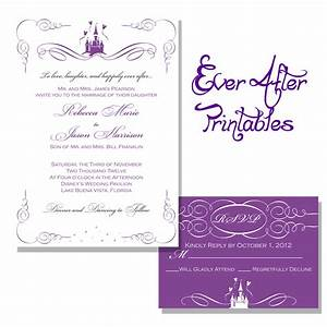 choosing your disney wedding invitations for a fairy tale With free printable disney wedding invitations