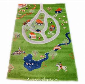 tapis enfant ferme route ivi tapis enfant 3d espace de With tapis enfant avec housse de canapé anti poils