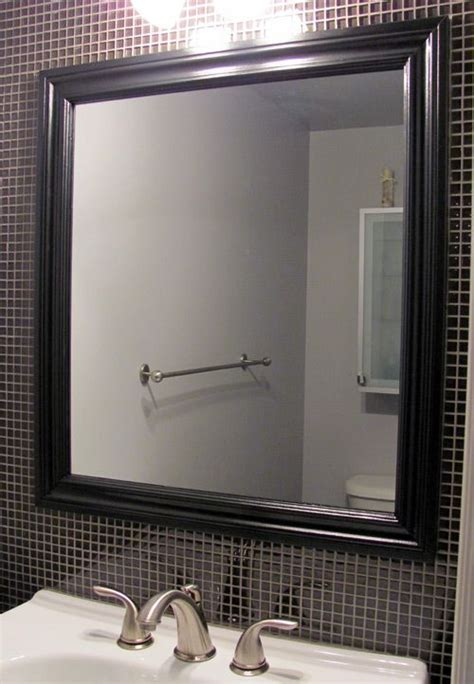 How To Frame Bathroom Mirror With Molding by How To Frame A Mirror With Wood Molding Diy