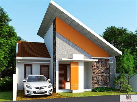 desain rumah minimalis atap miring desain rumah