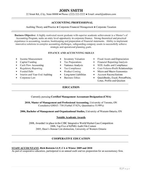 Finance And Accounting Professional Resume by Click Here To This Entry Level Financial Accountant Resume Template Http Www