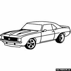 hot cars coloring pages vintage cars coloring pages With custom 66 chevy trucks