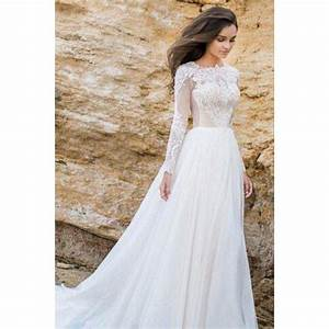 White wedding dresses long wedding dresses elegant lace for Long white wedding dresses