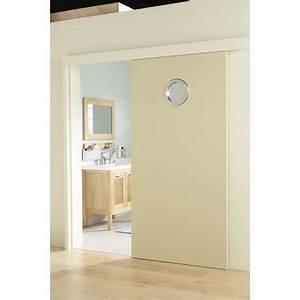porte coulissante isoplane h204 x l73 cm salle de With porte d entrée alu avec miroir salle de bain éclairant