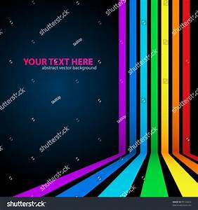 Rainbow Lines Background Vector Illustration Your Stock ...
