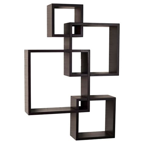 Individual Wall Shelves by Intersecting Cube Shelves Espresso Target