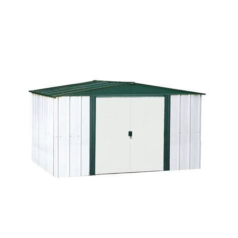 metal storage shed with floor arrow commander 10 ft x 20 ft dipped galvanized