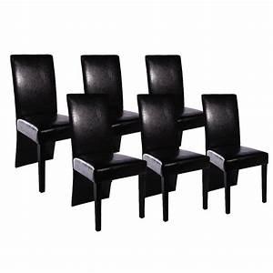 Chaise Noire Salle A Manger : chaise de salle a manger noir cuir bois noire couleur ~ Teatrodelosmanantiales.com Idées de Décoration