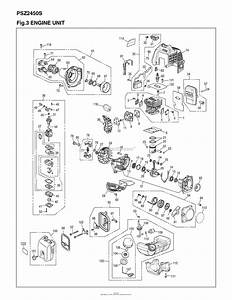 Red Max Psz2450s 09 S  N 90200101  U0026 Up Parts Diagram For