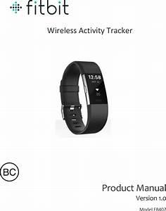 Fitbit Fb407 Wireless Fitness Tracker User Manual Fb407