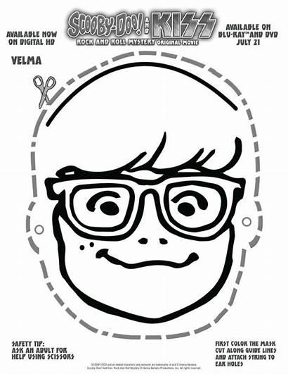 Printable Scooby Doo Mask Velma Printables Masks