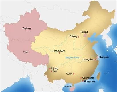 China Hiking Map Larger Version Chinahighlights Travelguide