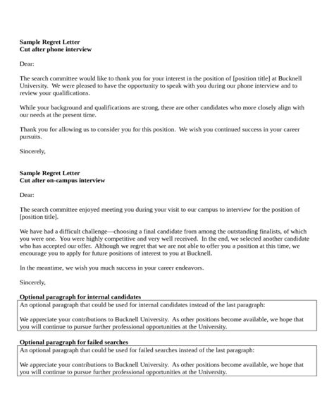 applicant rejection letter ideas 9 best