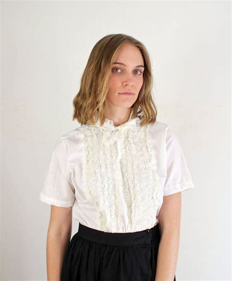 50s blouse xl 50s blouse 1950s white blouse