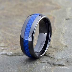 ceramic wedding band mens ring mens wedding bands With mens wedding rings blue