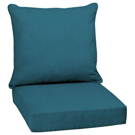 shop garden treasures blue solid cushion for
