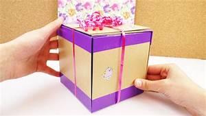 Geschenkbox Selber Basteln : geschenkbox selber machen diy geschenk zum geburtstag sch n verpacken w rfelkiste ducktape ~ Watch28wear.com Haus und Dekorationen