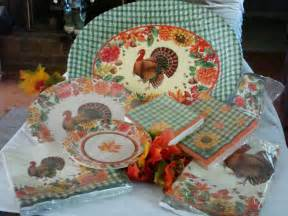 thanksgiving fall plaid assortment paper plates cups napkins table platter ebay