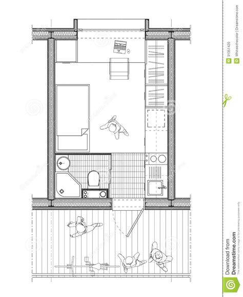plan d une chambre d hotel plan technique d 39 une chambre d 39 étudiant illustration stock
