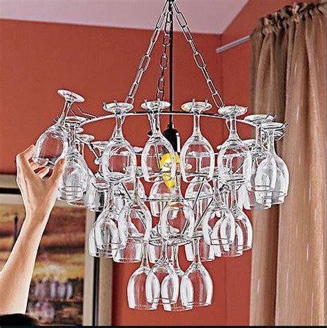 wine glass chandelier  creative ideas guide patterns