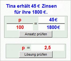Effektiven Zinssatz Berechnen : berechnung des zinssatzes zinsrechnung mathematik realschule klasse 7 ~ Themetempest.com Abrechnung
