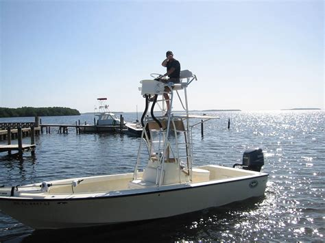 Skiff With Tower by Avenger Flats Boat Bay Boat Towers Photo Gallery By