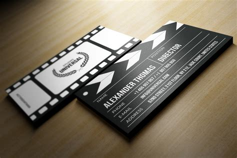 clapper board business card logo templates creative market