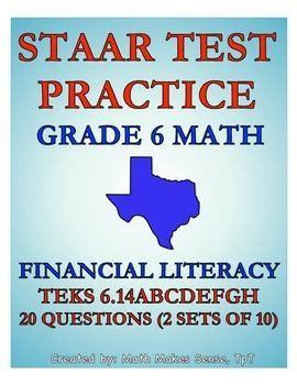 6th Grade Math STAAR Practice Set 10: Personal Financial ...