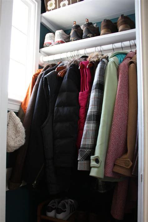 small coat closet ideas search organization