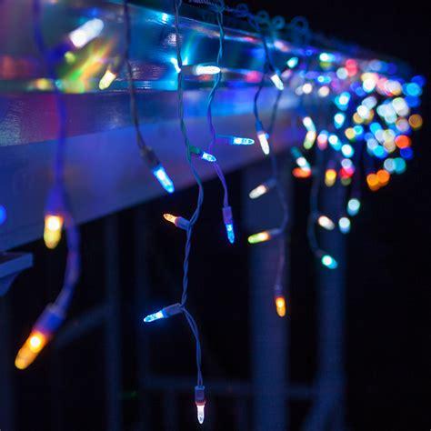 colored icicle lights led lights 50 m5 multicolor color change led