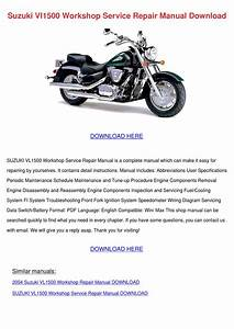 Suzuki Vl1500 Workshop Service Repair Manual By