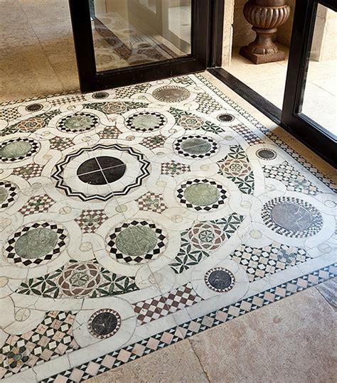 unique collection  antique reclaimed marble floor