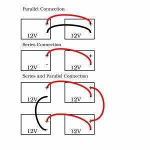 what is the difference between a series and parallel With parallel batteries