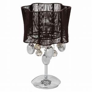 Lampe De Chevet Metal : lampe de chevet m tal chrom abat jour en fil chocolat luminaires ~ Melissatoandfro.com Idées de Décoration