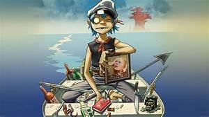 ab05-wallpaper-gorillaz-boat-illust-music - Papers co