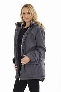 Grey Parka Coat JacketIn